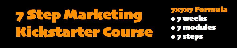 7 Step Marketing Starter Course 7x7x7 Formula