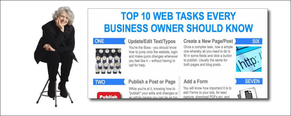 Top 10 web tasks every business owner should know (infographic)