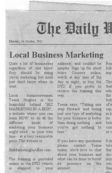 Why you need a Media page for your website (image of newspaper)