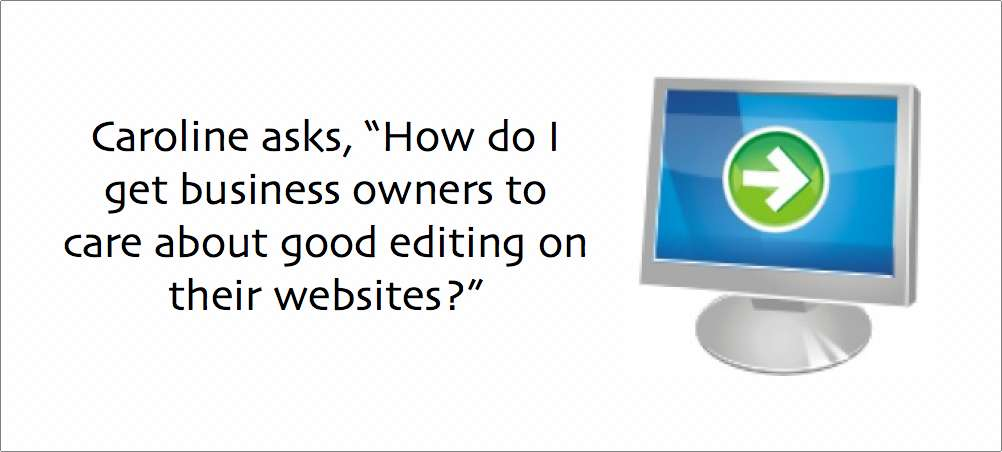 Should business owners care about good editing on their websites?