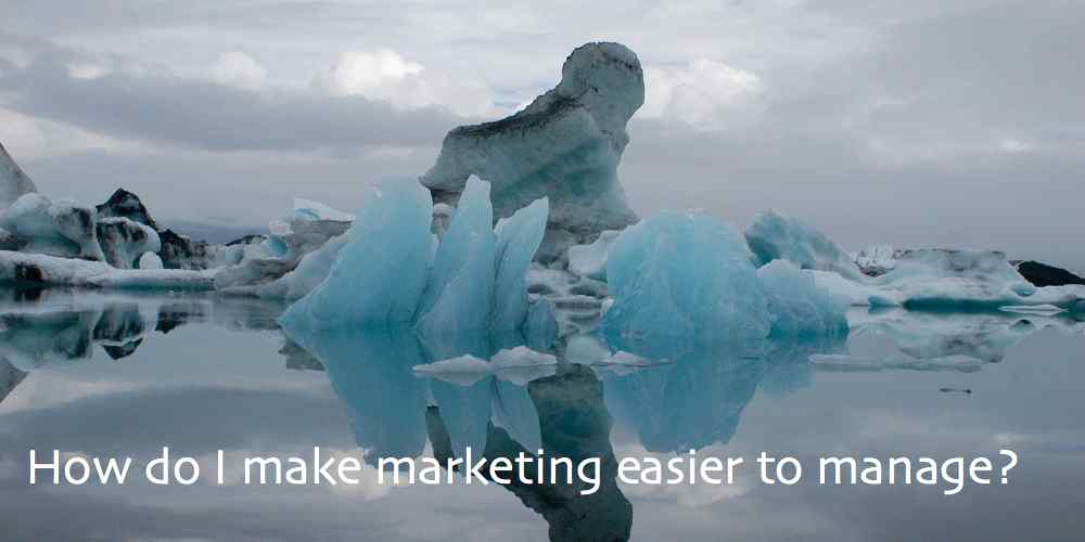 How do I make marketing easier to manage? Is it possible?