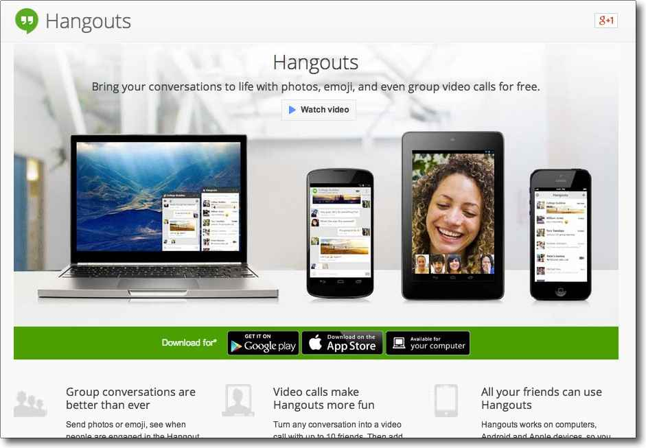 How to use Google Hangouts for the first time
