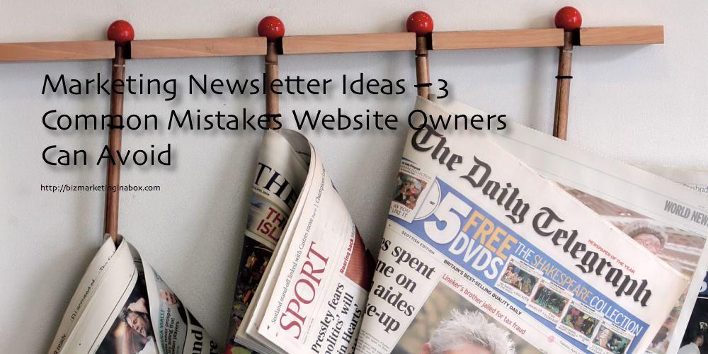 Marketing newsletter ideas