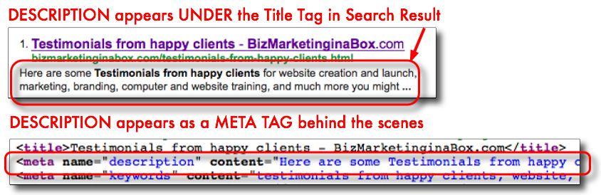 Website Design Tips Description meta tag needs to be unique