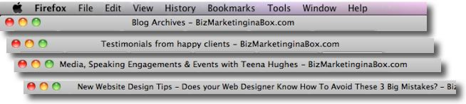 Website Design Tips about Title Meta Tags