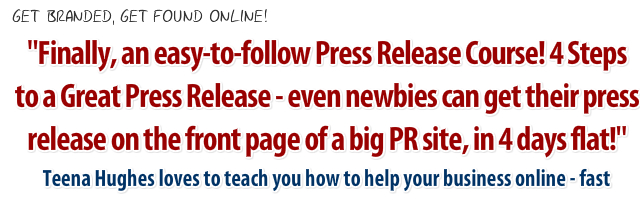 Press Release Courses with Teena Hughes