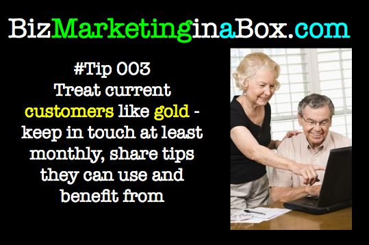 Treat current customers like gold - they'll love it! (image)