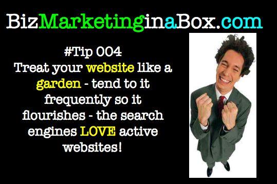Treat your website like a garden - nurture it - Twitter tip 004 (image)