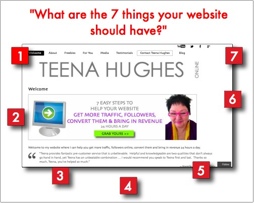 Website review - what are 7 things your website should have